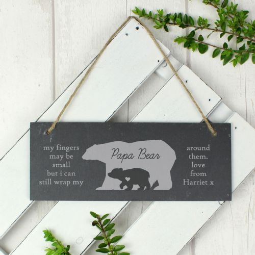Bear Slate Door Plaque